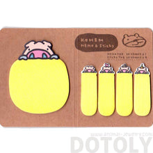 Piglet Pig Shaped Adhesive Post-its and Memo Notepad