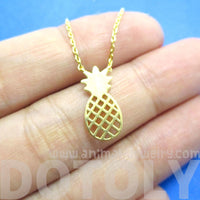 Pineapple Shaped Fruit Charm Necklace in Gold | DOTOLY