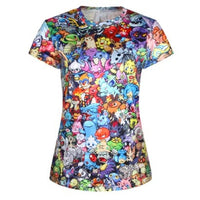 Pokemon 8-Bit All Over Collage Print Short Sleeve Tee
