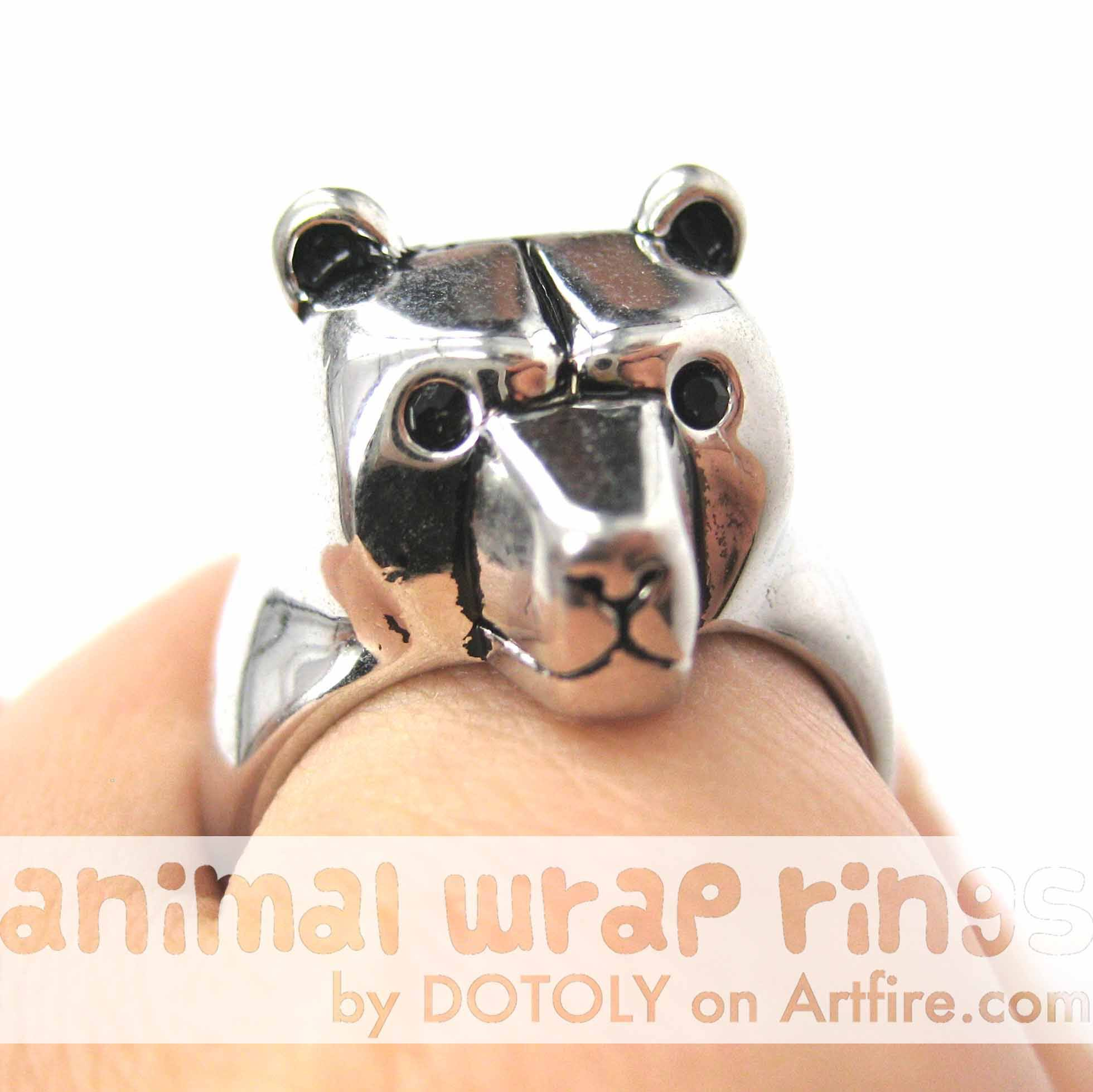 adjustable-polar-bear-animal-ring-in-shiny-silver