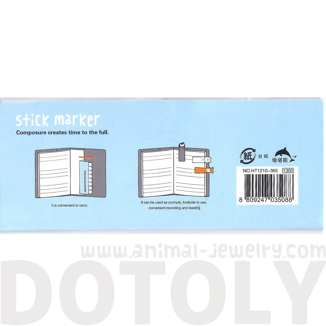 Polar Bear Walrus Penguin Shaped Animal Memo Pad Post-it Index Tabs