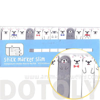 Polar Bears and Sea Lions Shaped Animal Post-it Memo Bookmark Tabs
