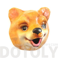 Pomeranian Puppy Animal Head Shaped Faux Taxidermy Tissue Roll Holder