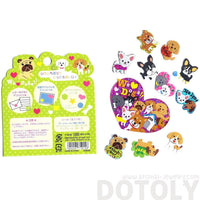 French Bulldog Shiba Puppy Dog Themed Sticker Flake Seals From Japan
