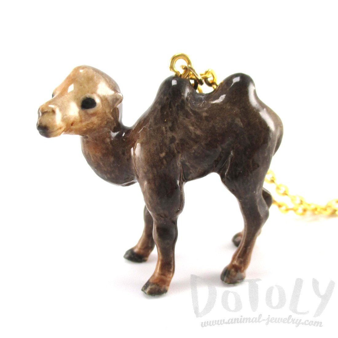 Porcelain Camel Shaped Hand Painted Ceramic Animal Pendant Necklace