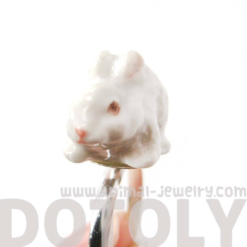 porcelain-ceramic-adorable-white-bunny-rabbit-animal-adjustable-ring-handmade