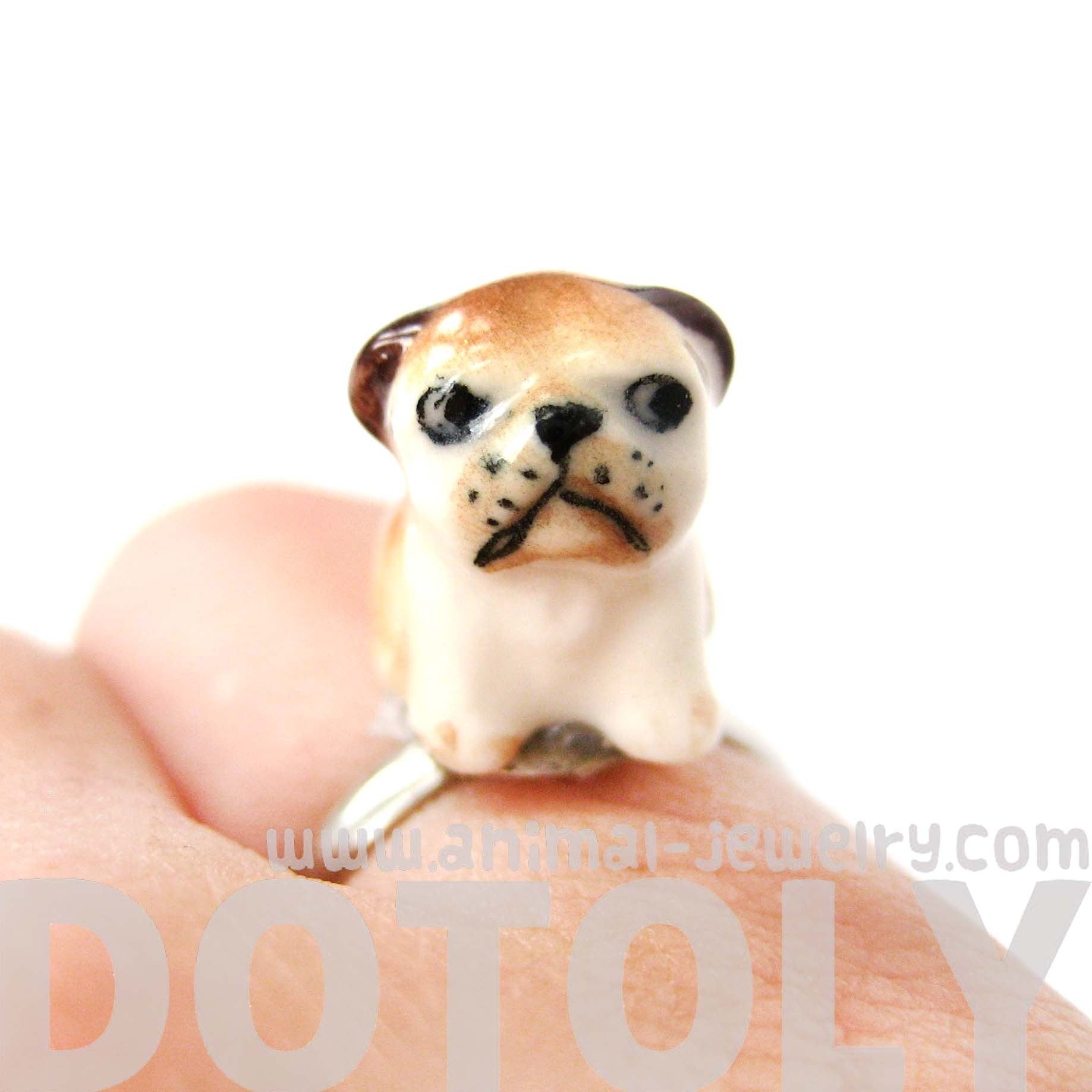 porcelain-ceramic-grumpy-bulldog-puppy-dog-animal-adjustable-ring-handmade