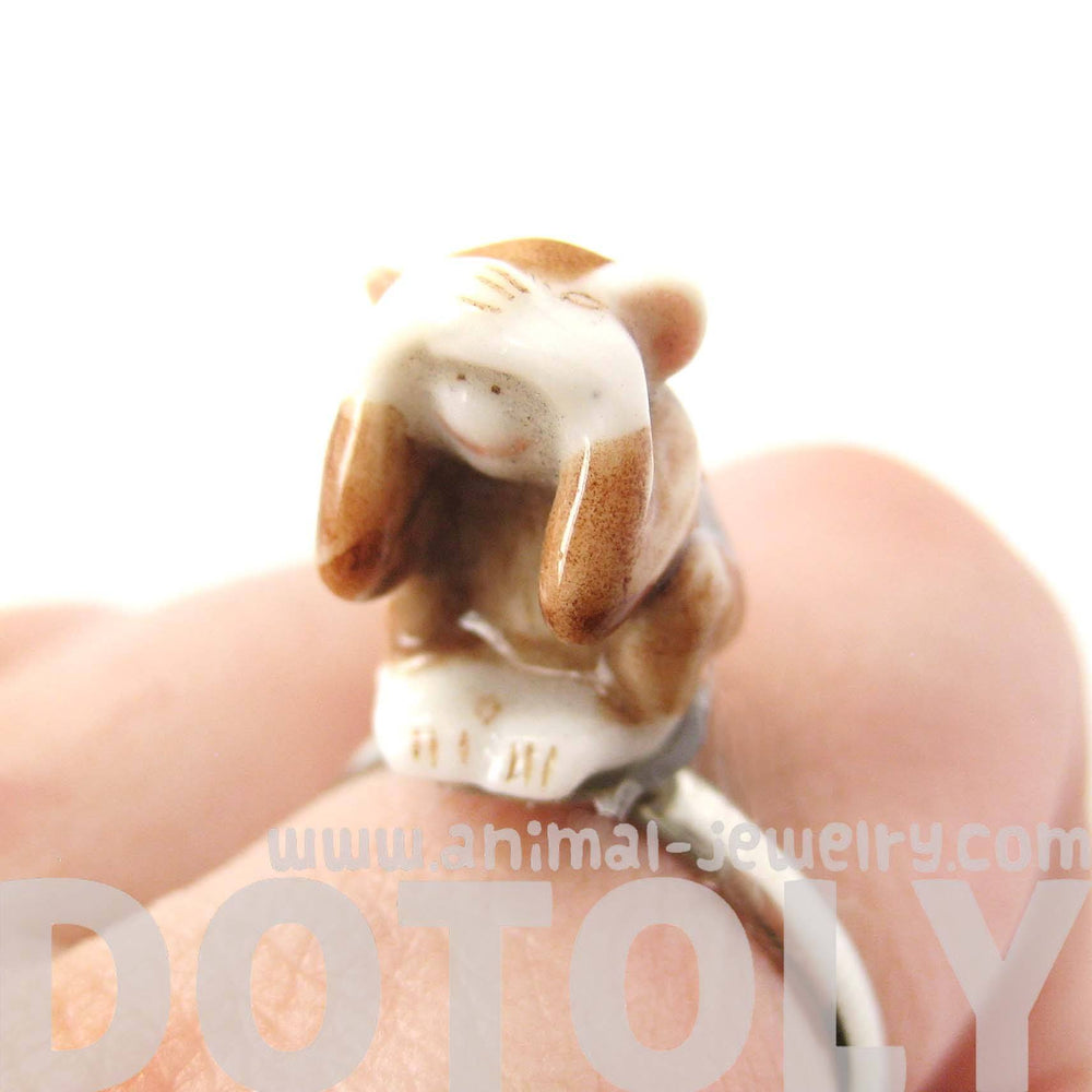 porcelain-ceramic-monkey-with-hands-over-eyes-animal-adjustable-ring-handmade