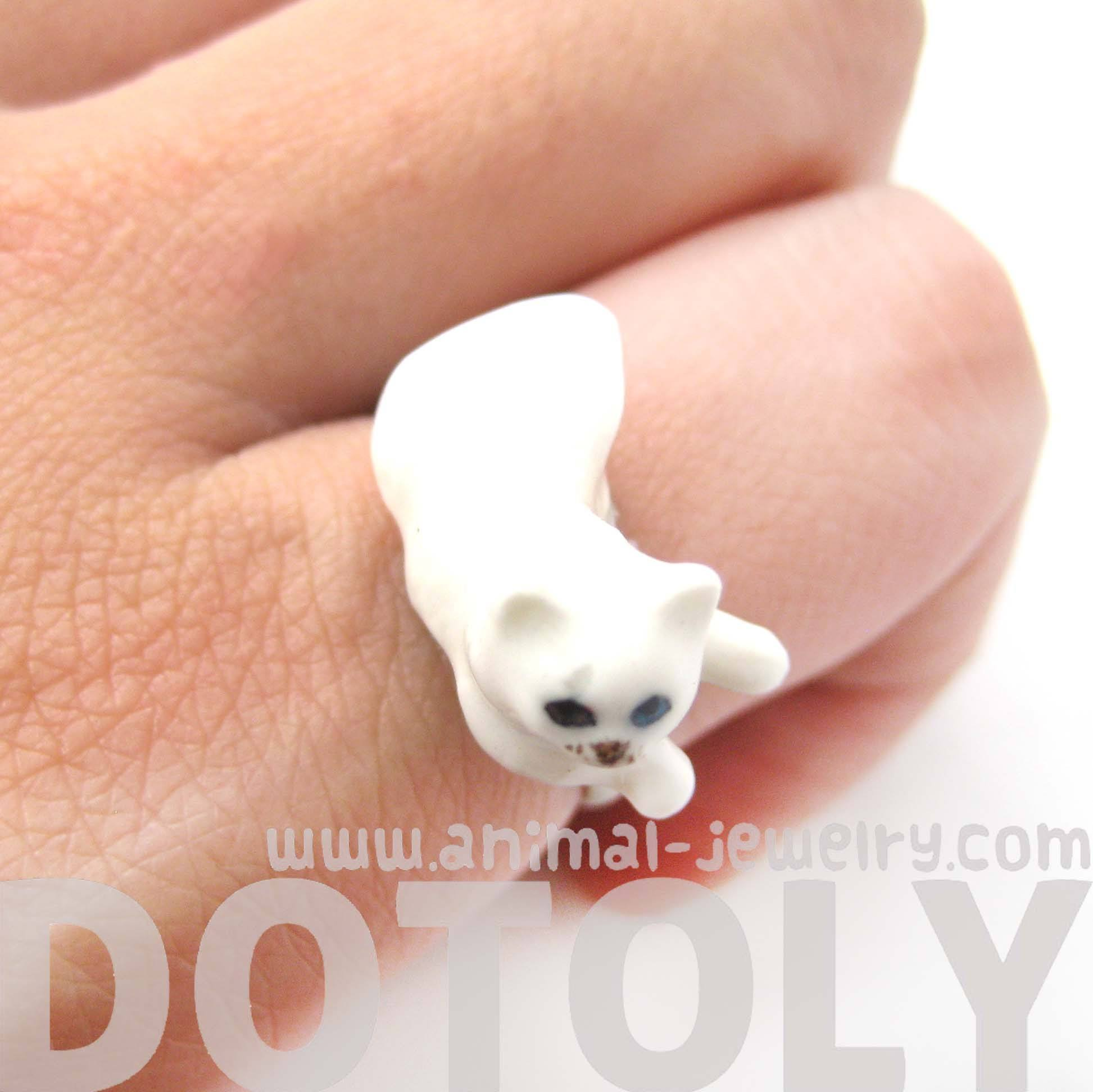 porcelain-ceramic-multi-colored-odd-eyed-kitty-cat-animal-adjustable-ring-handmade