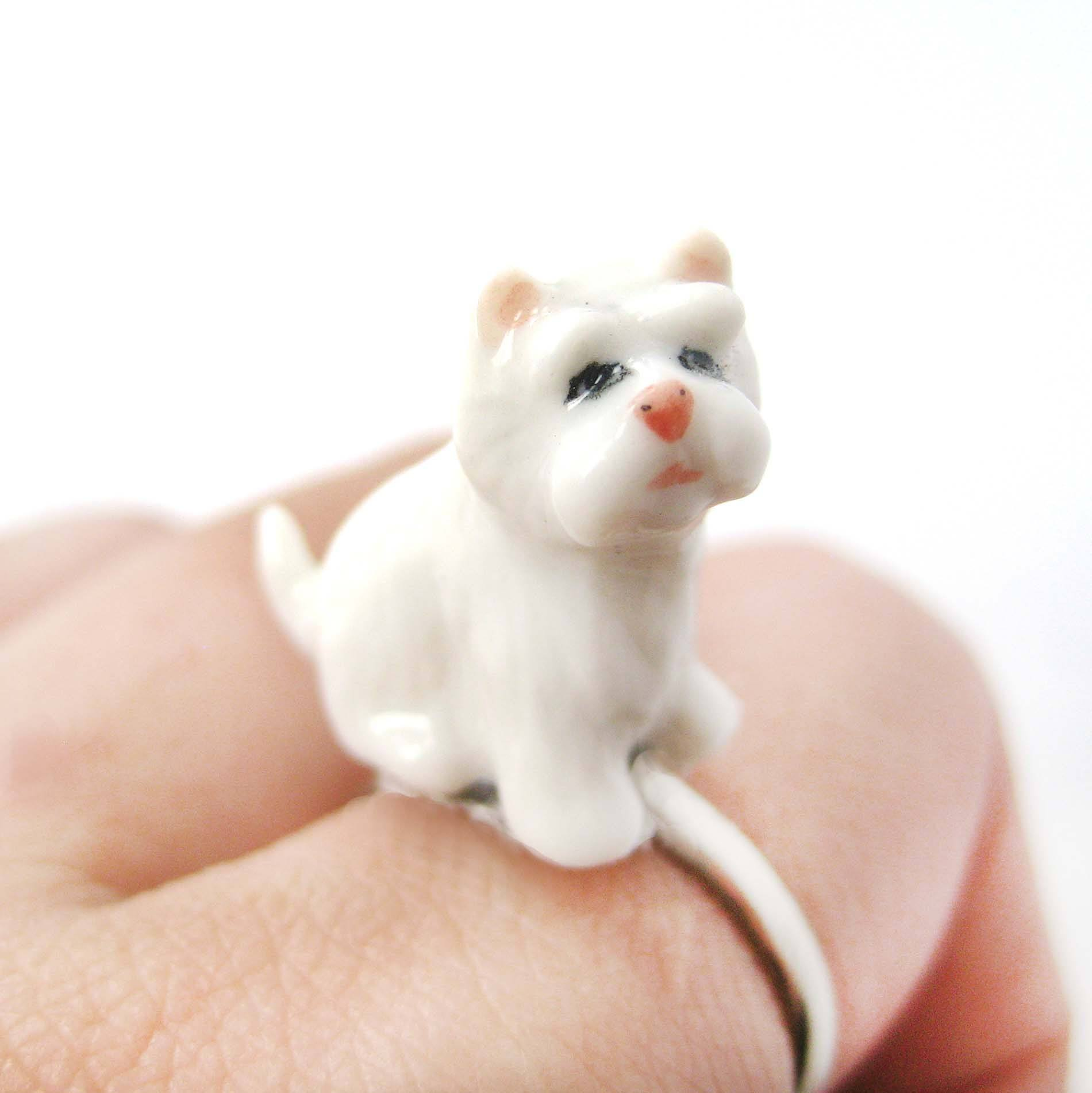 porcelain-ceramic-west-highland-white-terrier-puppy-dog-animal-adjustable-ring-handmade