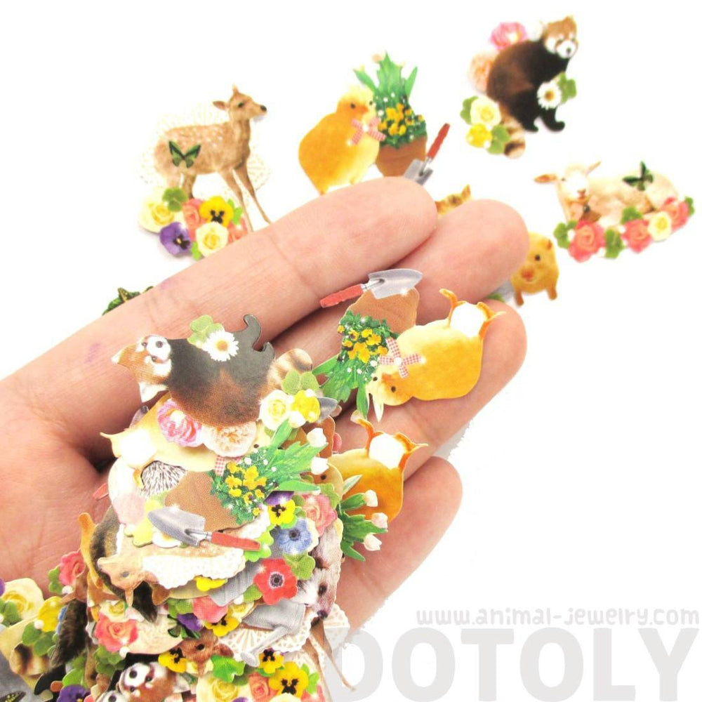 Realistic Forest Animal Themed Photo Sticker Flake Seals From Japan