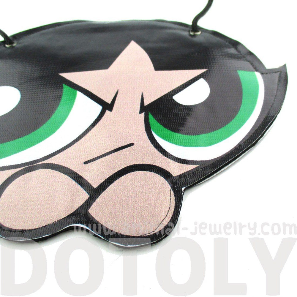 Powerpuff Girl Buttercup Shaped Vinyl Cross Body Bag