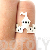Princess Castle Shaped Ring in Silver | DOTOLY