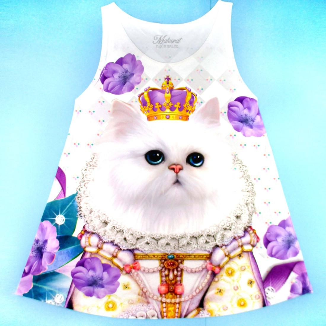 Princess Kitten and Flowers Photoshopped Cats All Over Print Tank Top