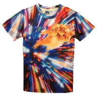 Psychedelic Vortex Kitty Cat Graphic Print Graphic Tee