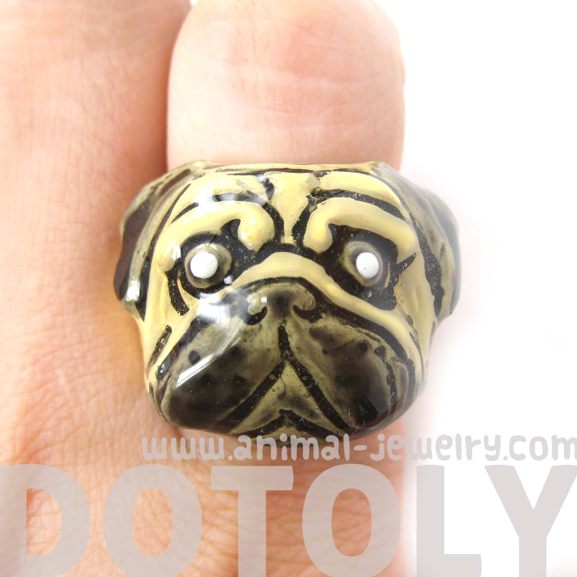 pug-dog-shaped-enamel-animal-ring-in-us-size-6-5-limited-edition