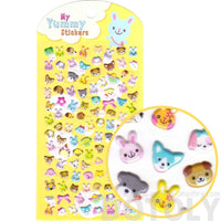 Puppy Dog Bunnies and Bear Face Shaped Spongy StickersPuppy Dog Bunnies and Bear Face Shaped Spongy Stickers