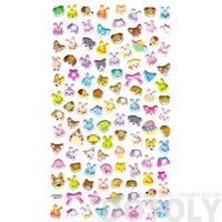 Puppy Dog Bunnies and Bear Face Shaped Spongy Stickers