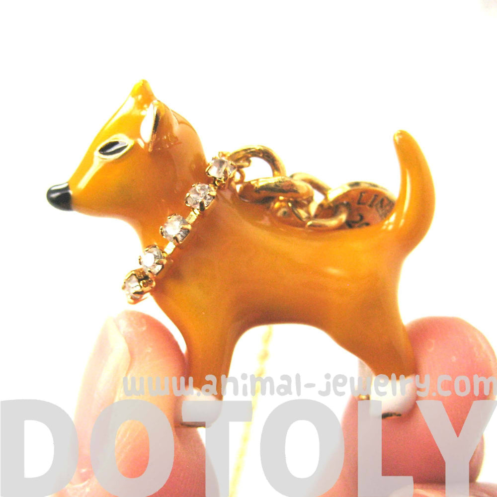 Puppy Dog Shaped Animal Pendant Necklace | Limited Edition Animal Jewelry
