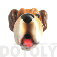 Paper Mache Hound Dog Animal Head Shaped Faux Taxidermy Wall Trophy