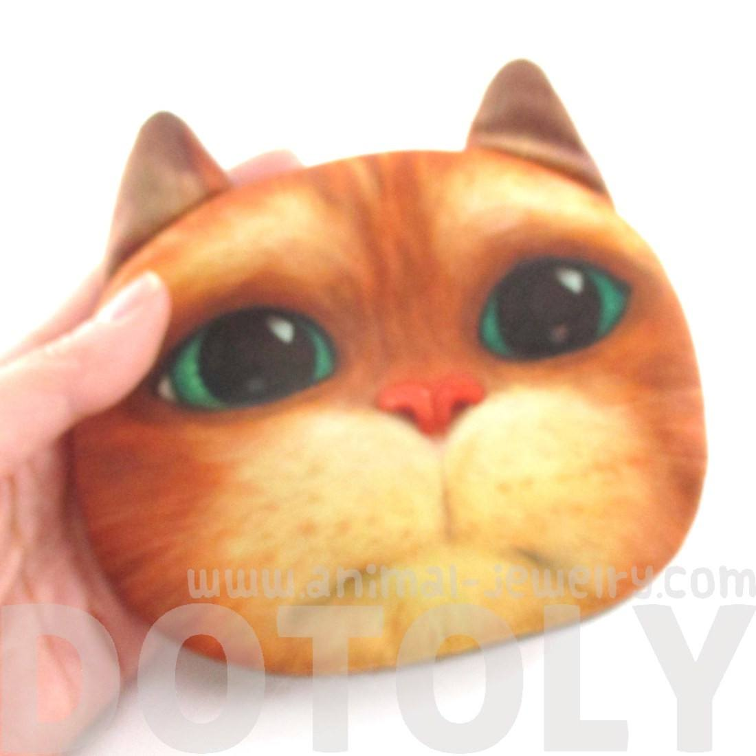 Puss In Boots Kitty Cat Shaped Coin Purse Make Up Bag