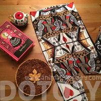 Queen of Hearts Playing Cards Digital Print Comfortable Stretch Leggings for Women | DOTOLY