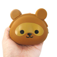 Raccoon Dog Tanuki Shaped Animal Friends Silicone Clasp Coin Purse
