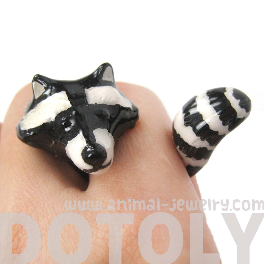 raccoon-shaped-enamel-animal-wrap-ring-in-us-size-8-limited-edition