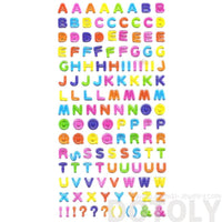 Rainbow Colored Alphabet ABCs Shaped Jelly Typography Stickers for Scrapbooking and Decorating | DOTOLY