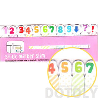 Rainbow Colored Number Memo Pad Post-it Index Tabs