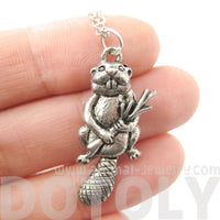 Realistic Beaver Shaped Moveable Animal Charm Necklace | MADE IN USA | DOTOLY