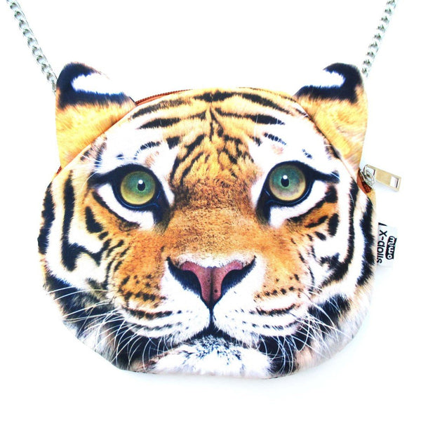 Realistic Bengal Tiger Face Shaped Photo Digital Print Cross Body Shoulder Sling Bag | DOTOLY