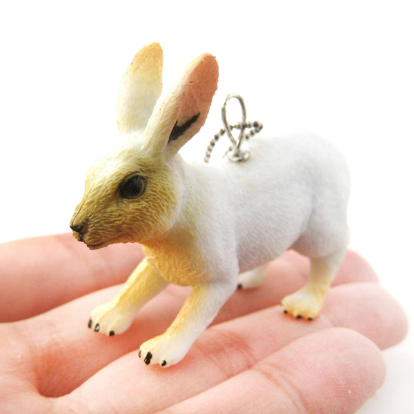realistic-bunny-rabbit-hare-animal-plastic-pendant-necklace-in-white-animal-jewelry