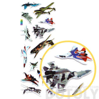 Fighter Jets Airplanes Planes Shaped Puffy Photo Stickers for Kids