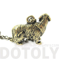 Golden Retriever Puppy Dog Shaped Animal Pendant Necklace in SilveraGolden Retriever Puppy Dog Shaped Animal Pendant Necklace in Brass