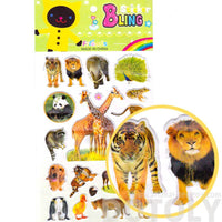 Realistic Animal Giraffe Raccoon Tiger Elephant Shaped Photo Stickers