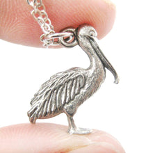 Realistic Pelican Bird Shaped Animal Charm Necklace | MADE IN USA