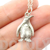 Realistic Penguin Bird Shaped Animal Charm Necklace | MADE IN USA