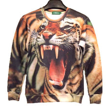 Realistic Tiger Face Graphic Print Unisex Pullover Sweatshirt Sweater