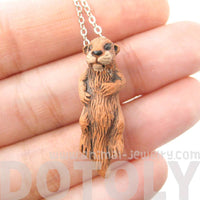Realistic Sea Otter Porcelain Ceramic Animal Pendant Necklace | DOTOLY