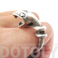 Realistic Snake Shaped Boucheron Sea Serpent Animal Ring in Silver