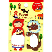 Red Riding Hood and Wolf Animal Memo Post-it Adhesive Bookmark Tabs