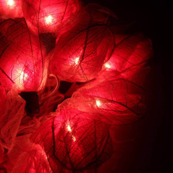 Red Rose Flower Floral Handmade 3D String Lights for Weddings, Parties, Home Decoration | DOTOLY