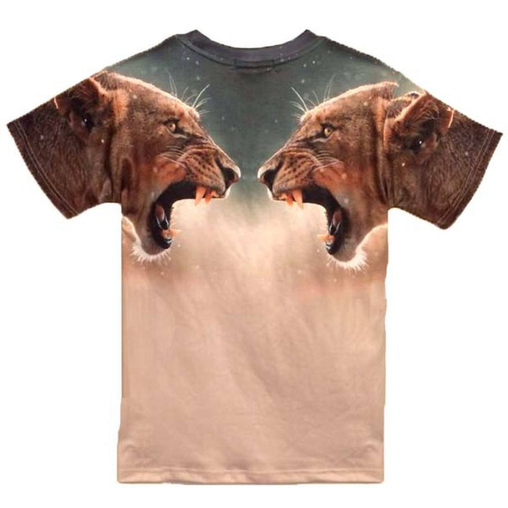 Roaring Lioness Lion Wild Cat Face Graphic Tee T-Shirt