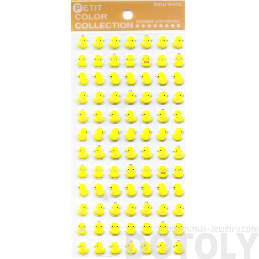 Yellow Rubber Ducky Animal Themed Puffy Sticker Seals for Scrapbooking