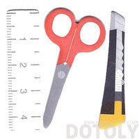 Ruler Scissors Shaped Back to School Themed Post-it Bookmark Tabs