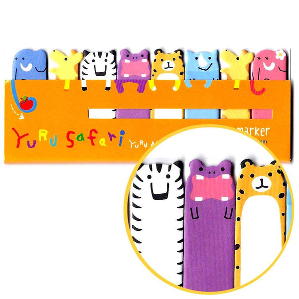 Safari Animal Themed Elephant Tiger Zebra Giraffe Memo Pad Post-it Index Tab Sticky Bookmarks | DOTOLY