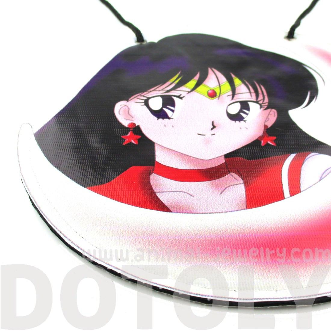Sailor Mars Rei Guardian Print Vinyl Cross Body Bag