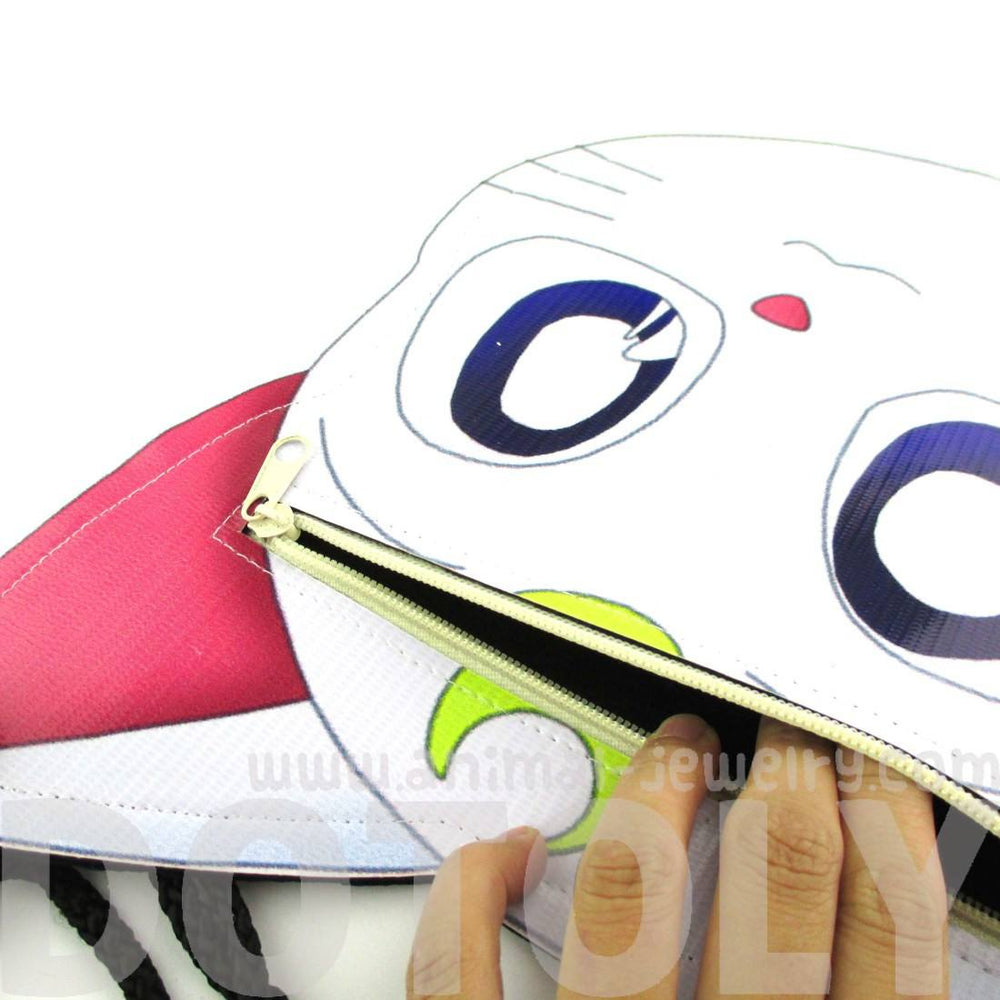 Sailor Moon Artemis Kitty Cat Face Vinyl Cross Body Bag