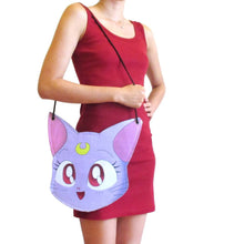 Sailor Moon Diana Cat Face Shaped Vinyl Cross Body Bag